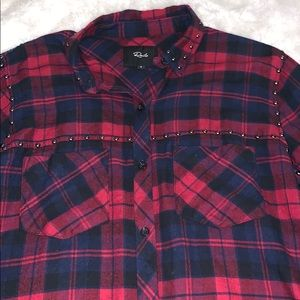 Rails Tops - Rails Studded Plaid Shirt
